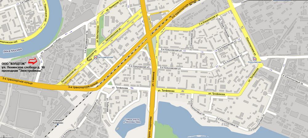 Как доехать от автозаводской до ленинского проспекта